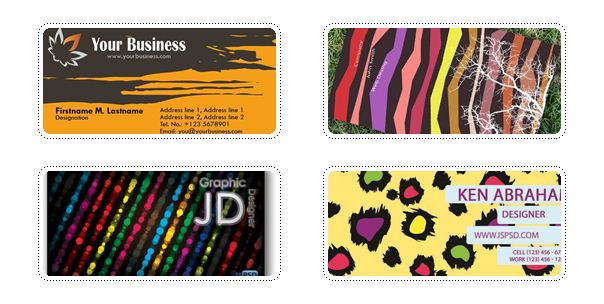 Multicolored Business Cards 15+ Business Card Templates with Multi Color Background