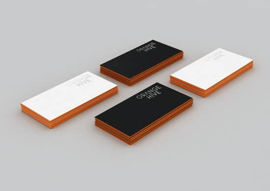 Orange edged Hive 20+ Fresh Business Cards Designs