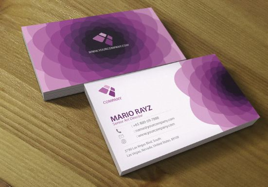 Purple flora business card