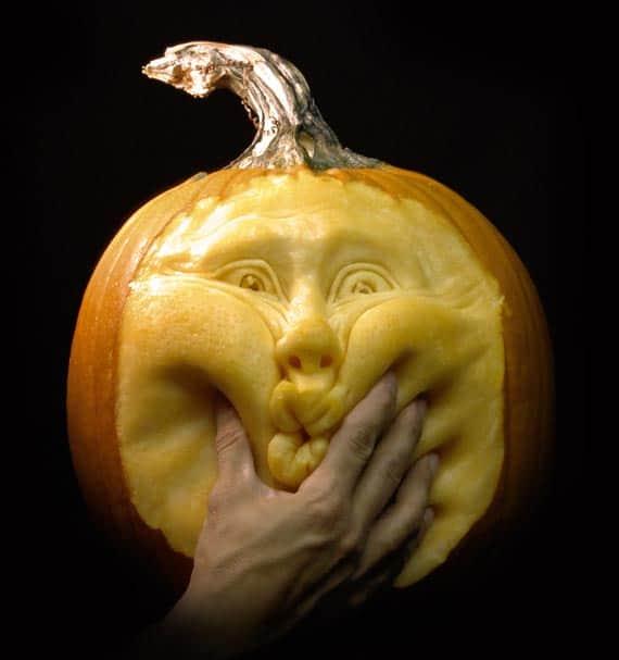 Squeeze pumpkins