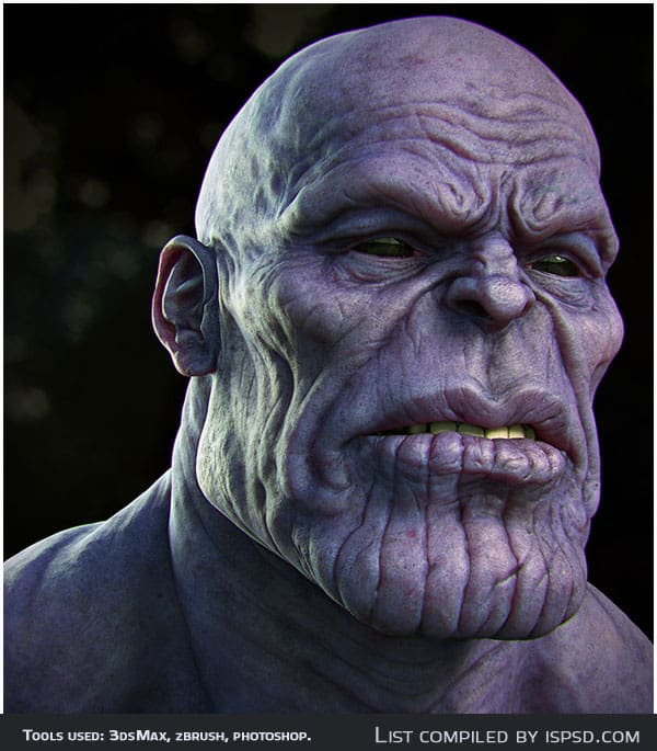 Thanos render test Breathtaking and Amazing 3D Portraits