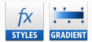 difference Photoshop layer styles vs gradients