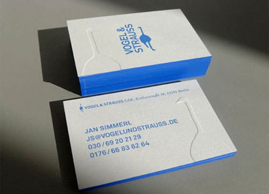 blue edged 20+ Fresh Business Cards Designs