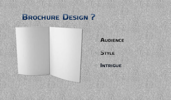 brochure design Brochure Design: Audience, Style and Intrigue