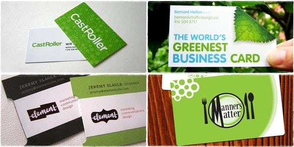card preview 50+ Green Business card Designs
