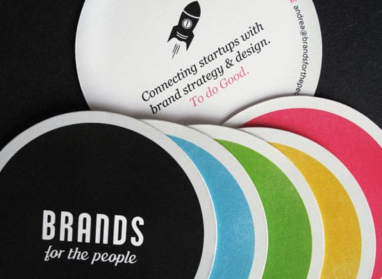 colored round business 20+ Fresh Business Cards Designs