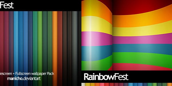 fest 25+ Rainbow Background Wallpapers