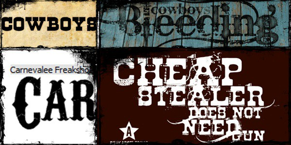 35 Free Font Files : Download Western Fonts