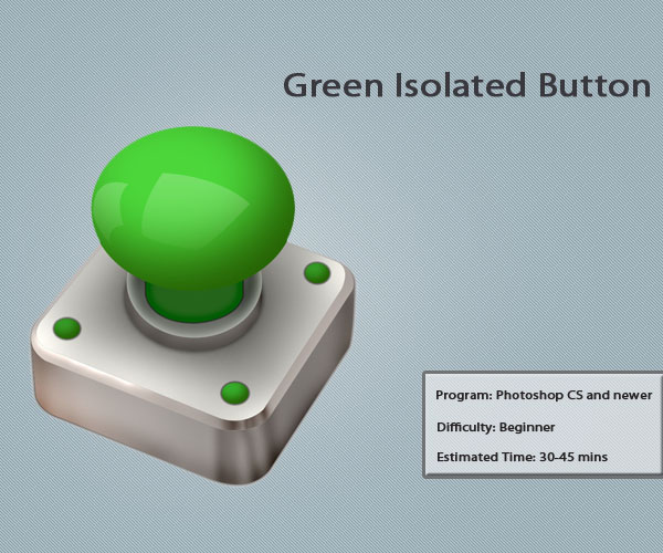 green isolated Button 10 Amazing 3d Icon Tutorials