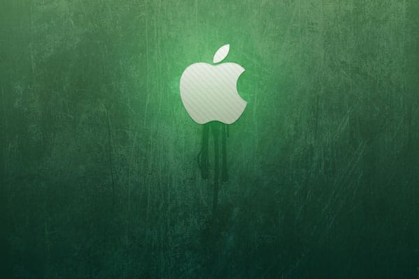 green-wall-apple
