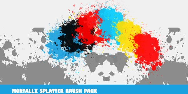 mortallx splatter brushes 600+ Paint Splatter Photoshop Brushes