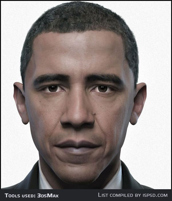 obama Breathtaking and Amazing 3D Portraits