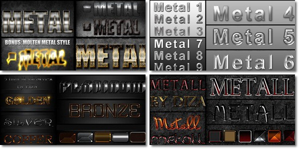 photoshop metal styles 15+ Photoshop Metal Styles