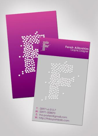purple business cards