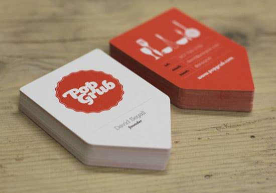 red Pop Grub 20+ Fresh Business Cards Designs