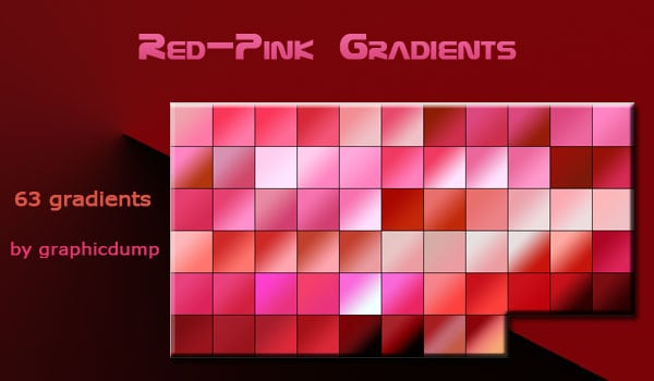 Red-Pink Photoshop Gradients