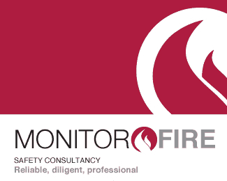 Monitor fire logo