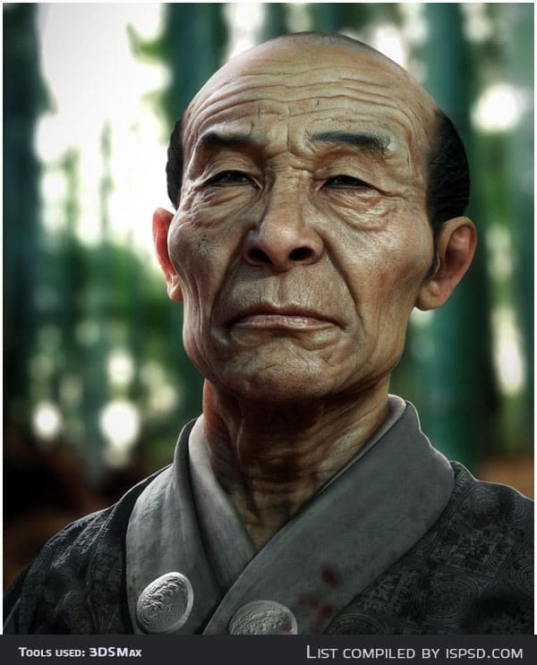 samurai Breathtaking and Amazing 3D Portraits
