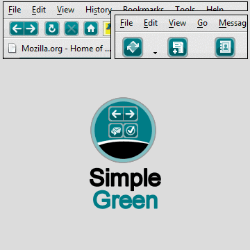 simple green 20 Top Firefox Skins for new browser