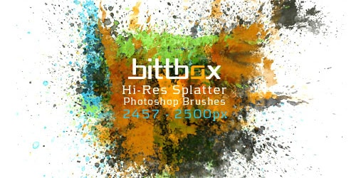 splat1 600+ Paint Splatter Photoshop Brushes