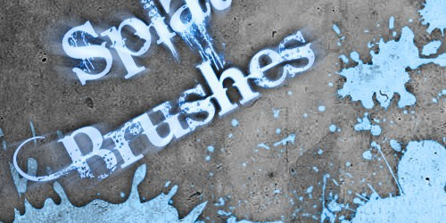 splat13 600+ Paint Splatter Photoshop Brushes