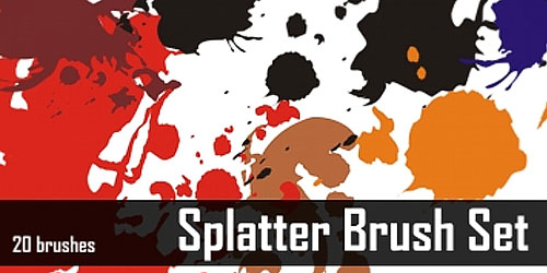 splat14 600+ Paint Splatter Photoshop Brushes