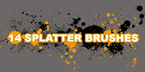 splat9 600+ Paint Splatter Photoshop Brushes