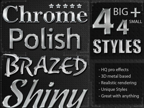 metal chrome layer styles
