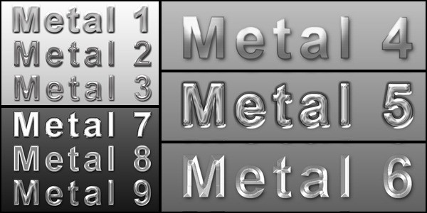 Photoshop Metal Text Styles