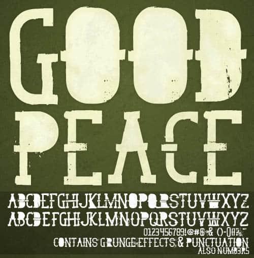 GoodPeace Font