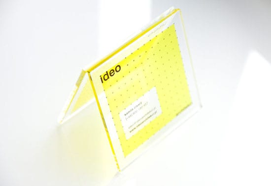 yellow transparent 20+ Fresh Business Cards Designs