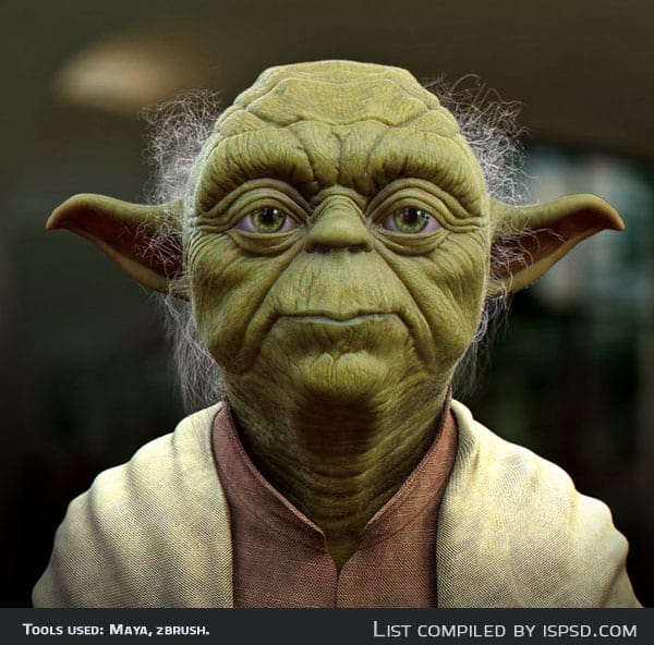 yoda Breathtaking and Amazing 3D Portraits