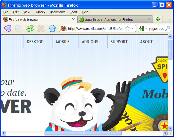 yogurttree 20 Top Firefox Skins for new browser