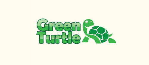 1 GreenTurtle 35+ Cool Turtle Logo Designs