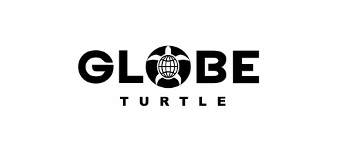 26 globe 35+ Cool Turtle Logo Designs