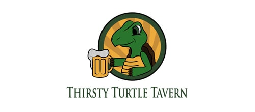 5 Thirsty 35+ Cool Turtle Logo Designs