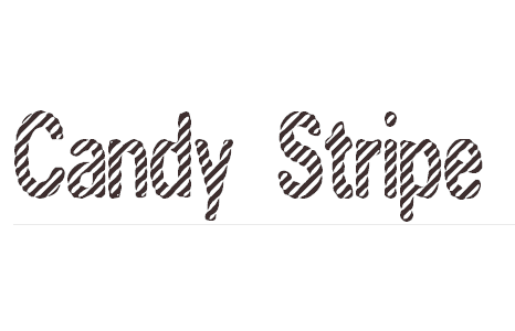Candy Stripe 40+ Free Striped Fonts