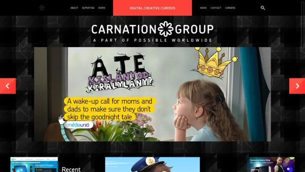 CarnationGroup 40 Brilliant Web Design and Portfolio Websites