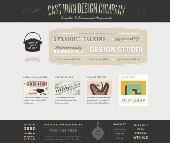 Cast Iron Design 30 Examples of Subtle Texture Overlay in Web Design