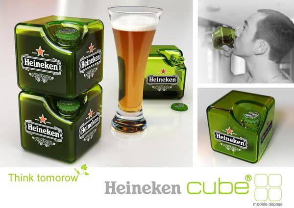 Concept HEINEKEN Cube 40+ Brilliant Concept Package Designs