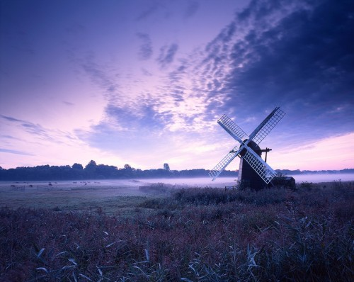Dawn Herringfleet Mill 500x398 50 Inspiring Windmill Pictures