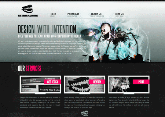 ECTOMACHINE 30+ Examples of Websites Using Gradient Effect