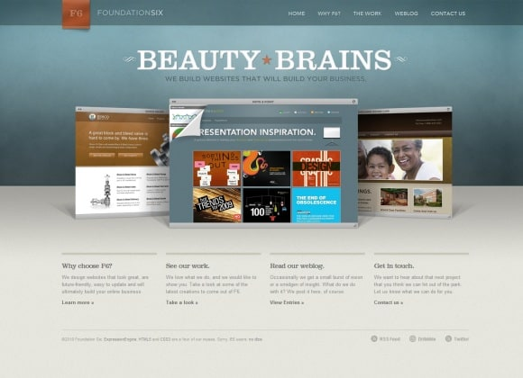 Foundation Six 30 Examples of Subtle Texture Overlay in Web Design
