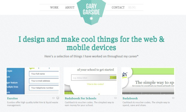 Gary Garside 40 Brilliant Web Design and Portfolio Websites