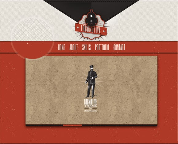 Locomotive theme 30 Examples of Subtle Texture Overlay in Web Design