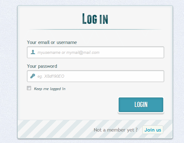 Login and Registration Form using HTML and CSS