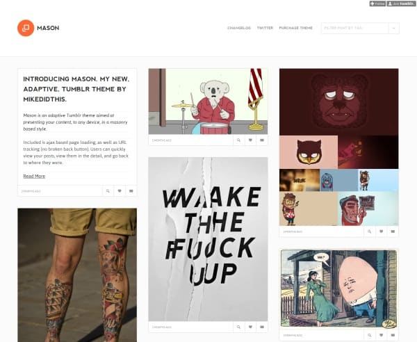 Mason 45 Amazing Premium Tumblr Themes
