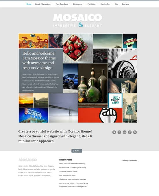 Mosaico Theme 50 Amazing WordPress Grid Themes