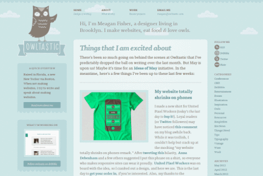 Owltastic 30+ Examples of Websites Using Gradient Effect