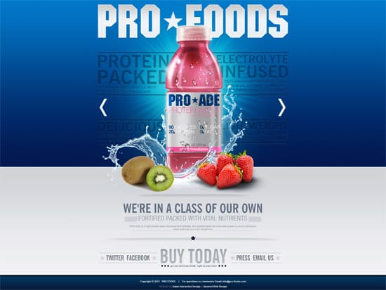 PRO FOODS1 25 Examples of Effective Image Usage in Web Design
